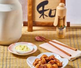 Pollo karaage con salsa di soia aromatizzata
