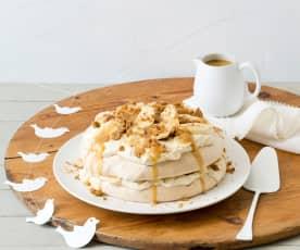 Gingerbread pavlova stack