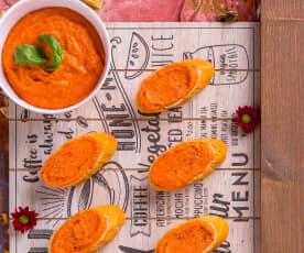 Hummus di ceci e peperoni (senza lattosio)