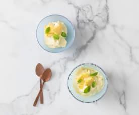 Frozen pineapple cream