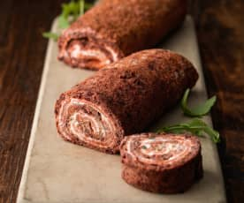 Smoked Salmon and Beetroot Roulade