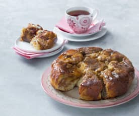 Sticky buns with brown sugar glaze