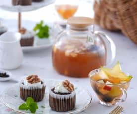 蒸巧克杯子蛋糕&初夏水果茶