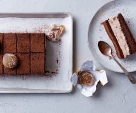 Tableta de chocolate y castañas