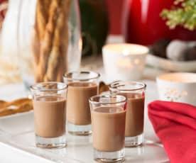 Licor de chocolate y café