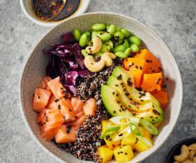 Mango salmon bowl