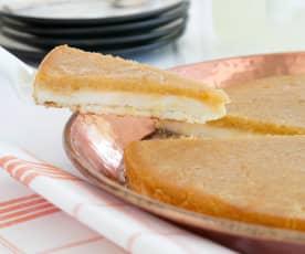 Sweet cheese pastry (knafeh)