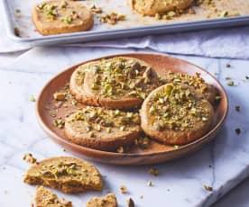 Bisquet vegano de pistache sin gluten
