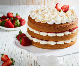 Sponge cake all'arancia