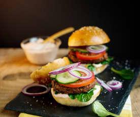 Wegetariańskie burgery z fasoli