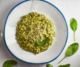 Risotto alla crema di spinaci
