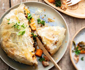 Baby-friendly Chicken, Sweet Potato and Kale Filo Pie