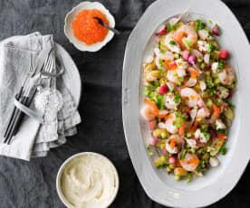 Prawn salad with horseradish cream