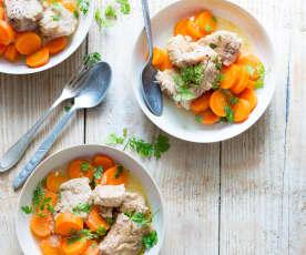 Veau aux carottes et au cerfeuil