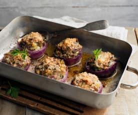 Cebule faszerowane ziemniakami (z grilla)