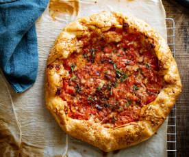 Tarte feuilletée express aux tomates et au parmesan