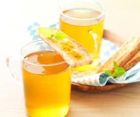 Thé vert à l'orange et aux épices