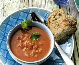 Soupe épicée aux lentilles à la Marocaine