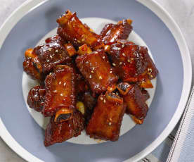 Gu lao rou (sweet and sour pork ribs)