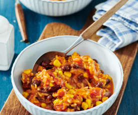 Chili-Bohnen-Reis