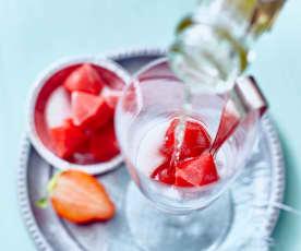 Erdbeermus auf Vorrat (gefroren)