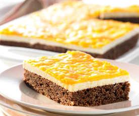 Schoko-Nuss-Kuchen mit Mango