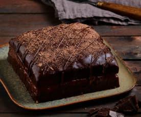 Torta crema e cioccolato