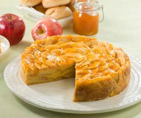 Tarta de manzana y flan