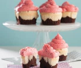 Trzykolorowe muffinki
