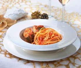 Spaghetti al ragù di anguille
