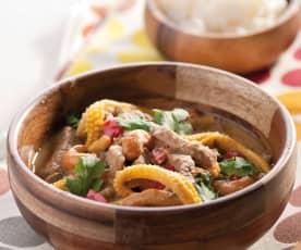 Rindfleisch-Curry mit Tamarinde und Klebreis