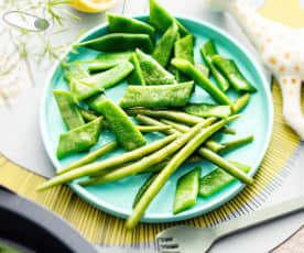 Steamed Green Beans and Helda Beans