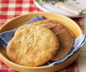 Dereotlu ve Beyaz Peynirli Ekmek