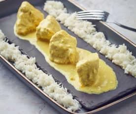 Spezzatino di tacchino al curry a Cottura Lenta
