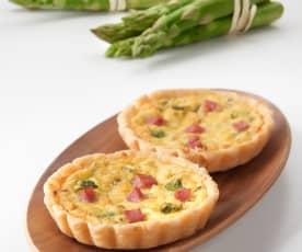 Tartaletas de jamón de York y espárragos (sin gluten)