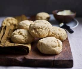 Pães de milho e batata-doce sem glúten