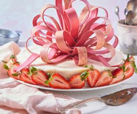 Moño sorpresa de chocolate rosa (temperado)