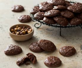 Chocolate and nut biscuits