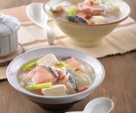 洋蔥鮭魚清湯