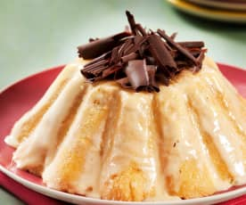 Charlotte di cioccolato e vaniglia