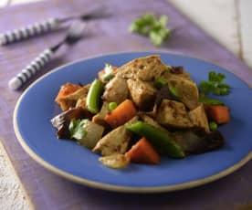 沙茶百頁豆腐