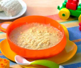 Pastina in brodo di carne con ricotta (7-9 mesi)