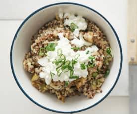 Quinoa-Birnen-Bowl