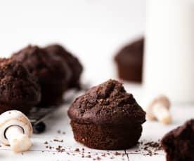Champignon- en chocolademuffins