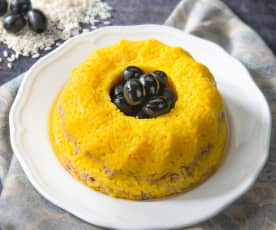 Anello di riso giallo al tonno e olive
