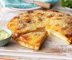 Mozzarella gefülltes Fladenbrot