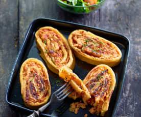 Pastastrudel mit Kasseler und Sauerkraut
