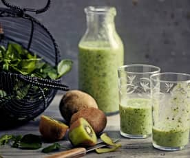 Smoothie kiwi-banane-cresson