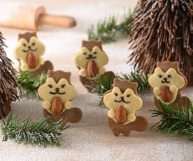 松鼠抱杏仁餅乾