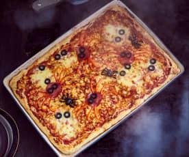 Grusel-Pizza